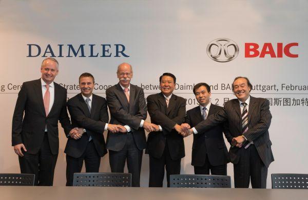 Daimler AG and BAIC stategic partnership